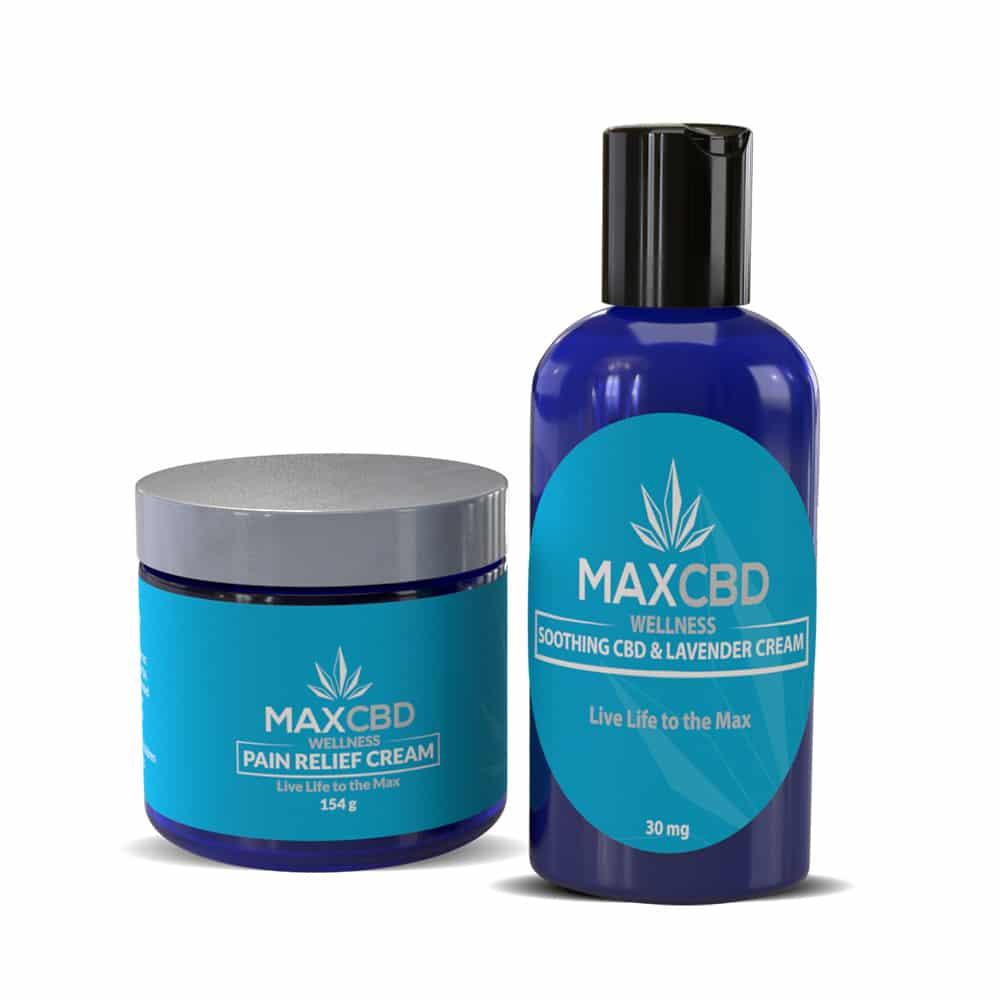 CBD Pain Relief Cream + Soothing CBD Lavender Cream