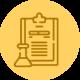 Orange badge depicting laboratory results by MaxCBD Wellness