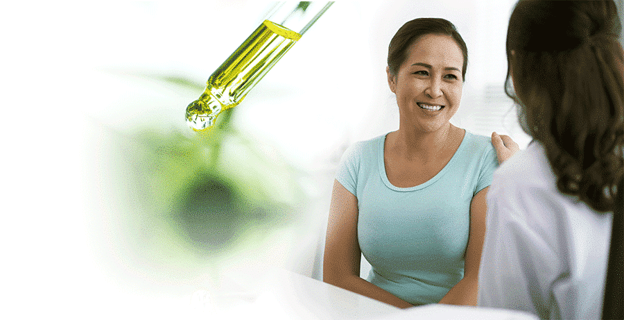 Customer having consultation with CBD Expert